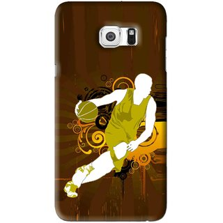 Snooky Printed Chamoins wins Mobile Back Cover For Samsung Galaxy Note 5 Edge - Brown
