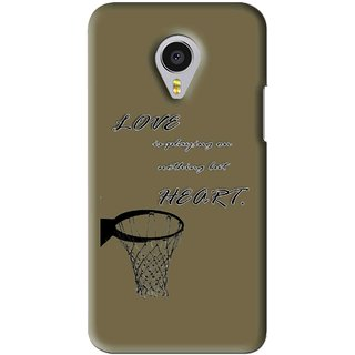 Snooky Printed Heart Games Mobile Back Cover For Meizu MX4 Pro - Brown