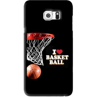 Snooky Printed Love Basket Ball Mobile Back Cover For Samsung Galaxy Note 5 Edge - Black