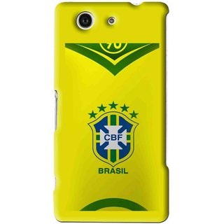 Snooky Printed Brasil Mobile Back Cover For Sony Z3 Mini - Yellow