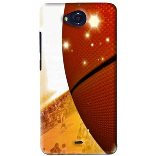 Snooky Printed Basketball Club Mobile Back Cover For Micromax Canvas Play - Brown