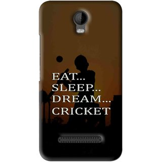 Snooky Printed All Is Cricket Mobile Back Cover For Micromax Bolt Q335 - Brown