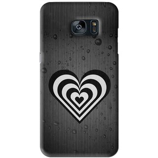 Snooky Printed Hypro Heart Mobile Back Cover For Samsung Galaxy S7 - Black