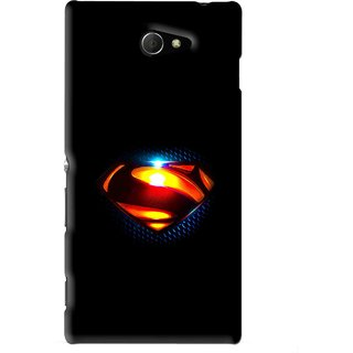 Snooky Printed Super Hero Mobile Back Cover For Sony Xperia M2 - Black