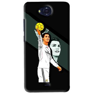 Snooky Printed I Win Mobile Back Cover For Micromax Canvas Play - Black