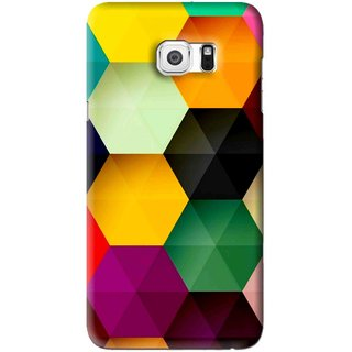 Snooky Printed Hexagon Mobile Back Cover For Samsung Galaxy Note 5 Edge - Multi