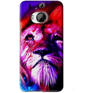 Snooky Printed Freaky Lion Mobile Back Cover For HTC One M9 Plus - Multi