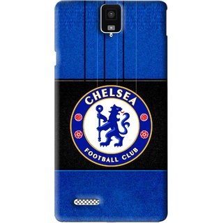 Snooky Printed FootBall Club Mobile Back Cover For Infocus M330 - Blue
