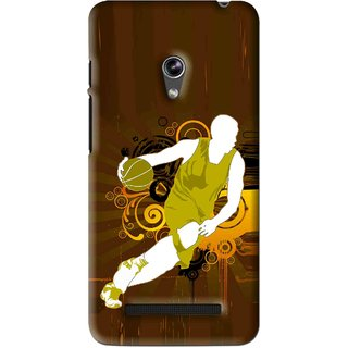 Snooky Printed Chamoins wins Mobile Back Cover For Asus Zenfone 5 - Brown