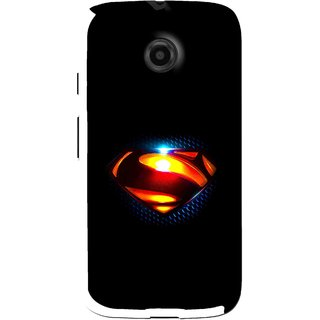 Snooky Printed Super Hero Mobile Back Cover For Moto E - Black