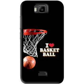 Snooky Printed Love Basket Ball Mobile Back Cover For Huawei Honor Bee - Black