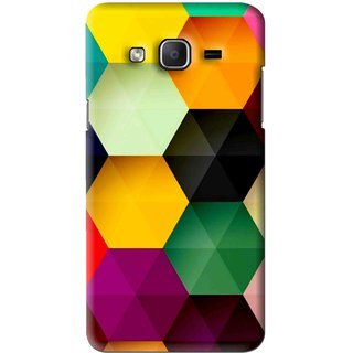 Snooky Printed Hexagon Mobile Back Cover For Samsung Galaxy On7 - Multi
