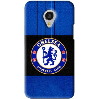 Snooky Printed FootBall Club Mobile Back Cover For Meizu MX4 Pro - Blue
