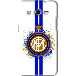 Snooky Printed Sports Lovers Mobile Back Cover For Samsung Galaxy Core 2 - White