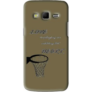 Snooky Printed Heart Games Mobile Back Cover For Samsung Galaxy S3 - Brown