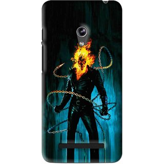 Snooky Printed Ghost Rider Mobile Back Cover For Asus Zenfone 5 - Blue