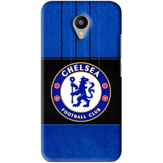 Snooky Printed FootBall Club Mobile Back Cover For Meizu M1 Note - Blue