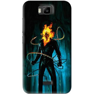 Snooky Printed Ghost Rider Mobile Back Cover For Huawei Honor Bee - Blue