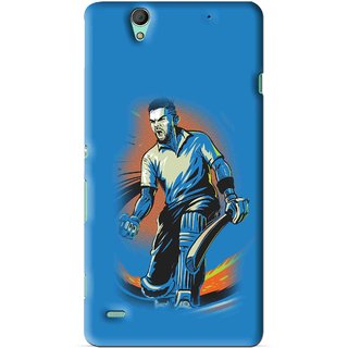 Snooky Printed I M Best Mobile Back Cover For Sony Xperia C4 - Blues