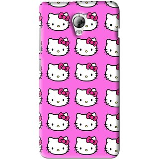 Snooky Printed Pink Kitty Mobile Back Cover For Lenovo Vibe P1 - Pink