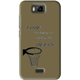 Snooky Printed Heart Games Mobile Back Cover For Huawei Honor Bee - Brown