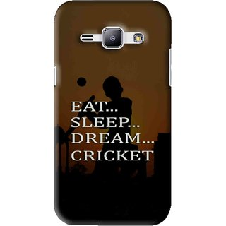 Snooky Printed All Is Cricket Mobile Back Cover For Samsung Galaxy J1 - Brown