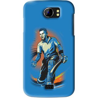 Snooky Printed I M Best Mobile Back Cover For Micromax Canvas 2 A110 - Blues