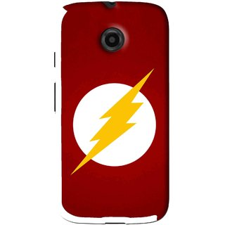 Snooky Printed High Voltage Mobile Back Cover For Moto E - Red