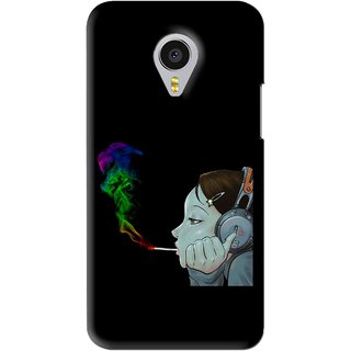 Snooky Printed Color Of Smoke Mobile Back Cover For Meizu MX4 Pro - Black