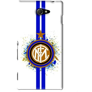 Snooky Printed Sports Lovers Mobile Back Cover For Sony Xperia M2 - White