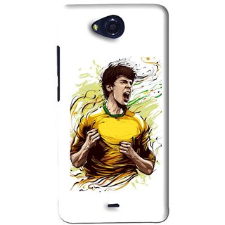 Snooky Printed I Win Mobile Back Cover For Micromax Canvas Play - White