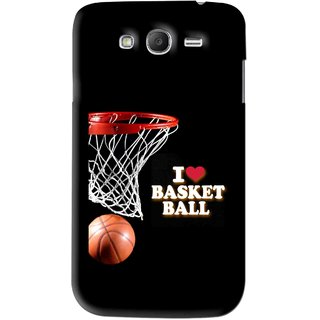 Snooky Printed Love Basket Ball Mobile Back Cover For Samsung Galaxy Grand 2 - Black