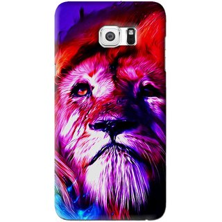 Snooky Printed Freaky Lion Mobile Back Cover For Samsung Galaxy Note 5 Edge - Multi