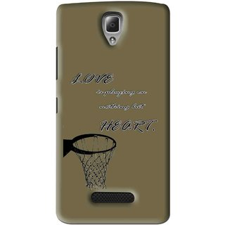Snooky Printed Heart Games Mobile Back Cover For Lenovo A2010 - Brown