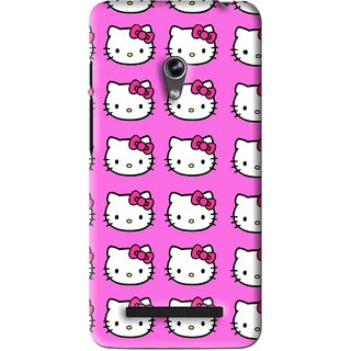 Snooky Printed Pink Kitty Mobile Back Cover For Asus Zenfone 5 - Pink