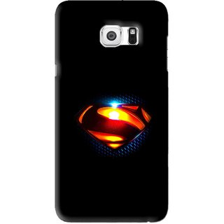 Snooky Printed Super Hero Mobile Back Cover For Samsung Galaxy S6 Edge Plus - Black