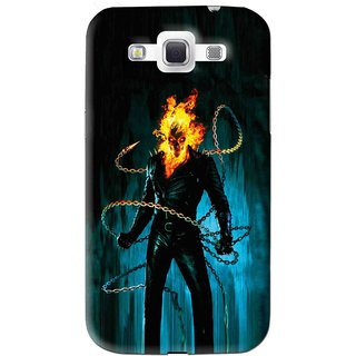Snooky Printed Ghost Rider Mobile Back Cover For Samsung Galaxy 8552 - Blue