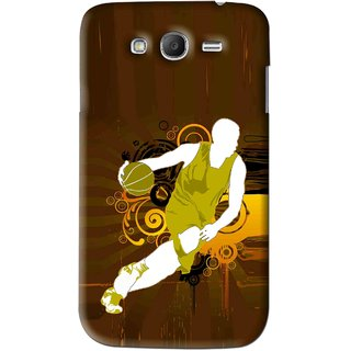 Snooky Printed Chamoins wins Mobile Back Cover For Samsung Galaxy Grand 2 - Brown