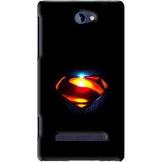 Snooky Printed Super Hero Mobile Back Cover For HTC 8S - Black
