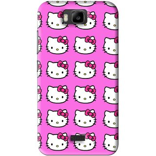 Snooky Printed Pink Kitty Mobile Back Cover For Huawei Honor Bee - Pink