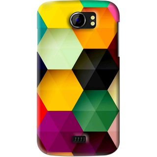 Snooky Printed Hexagon Mobile Back Cover For Micromax Canvas 2 A110 - Multi