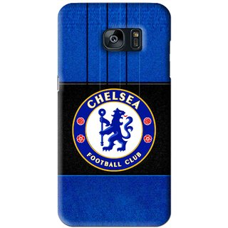 Snooky Printed FootBall Club Mobile Back Cover For Samsung Galaxy S7 - Blue