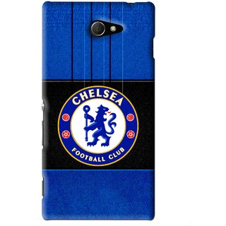 Snooky Printed FootBall Club Mobile Back Cover For Sony Xperia M2 - Blue