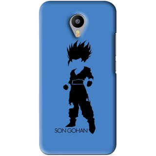 Snooky Printed Son Gohan Mobile Back Cover For Meizu M1 Note - Blue