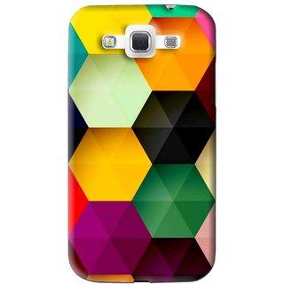 Snooky Printed Hexagon Mobile Back Cover For Samsung Galaxy 8552 - Multi