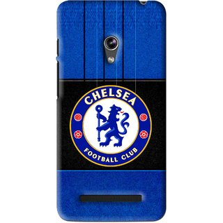 Snooky Printed FootBall Club Mobile Back Cover For Asus Zenfone 5 - Blue