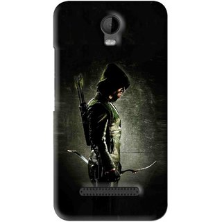 Snooky Printed Hunting Man Mobile Back Cover For Micromax Bolt Q335 - Black