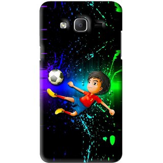 Snooky Printed High Kick Mobile Back Cover For Samsung Galaxy On7 - Multi