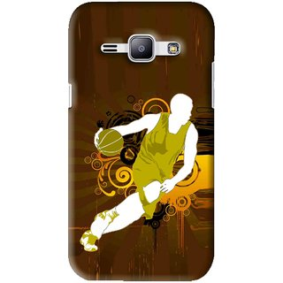 Snooky Printed Chamoins wins Mobile Back Cover For Samsung Galaxy J1 - Brown