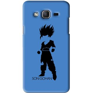 Snooky Printed Son Gohan Mobile Back Cover For Samsung Galaxy On7 - Blue